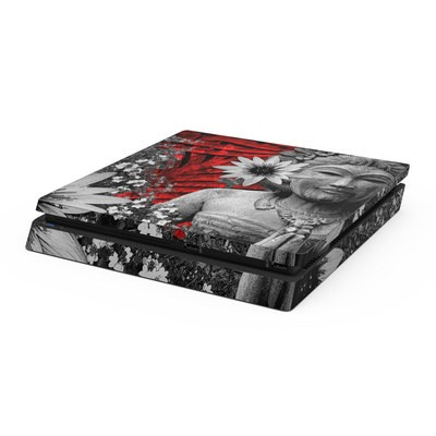Sony PS4 Slim Skin - Red Island Radiance