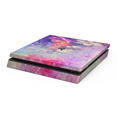Sony PS4 Slim Skin - Sketch Flowers Lily