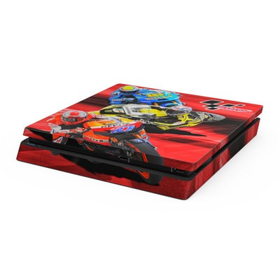 Sony PS4 Slim Skin - Speed Collage