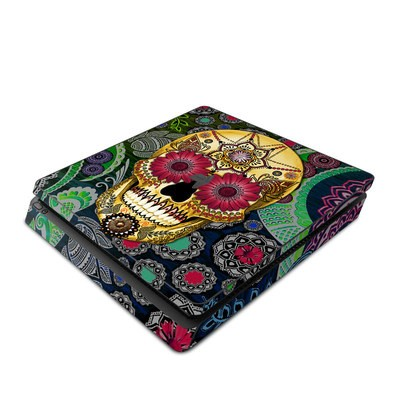 Sony PS4 Slim Skin - Sugar Skull Paisley