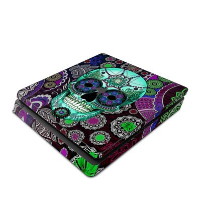 Sony PS4 Slim Skin - Sugar Skull Sombrero