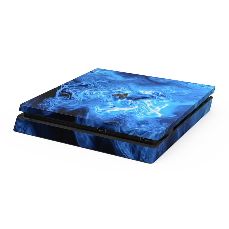 Drones For Sale >> Sony PS4 Slim Skin - Blue Quantum Waves by Gaming | DecalGirl