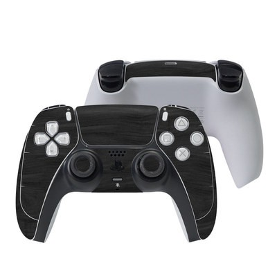 Sony PS5 Controller Skin - Black Woodgrain