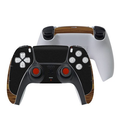 Sony PS5 Controller Skin - Wooden Gaming System