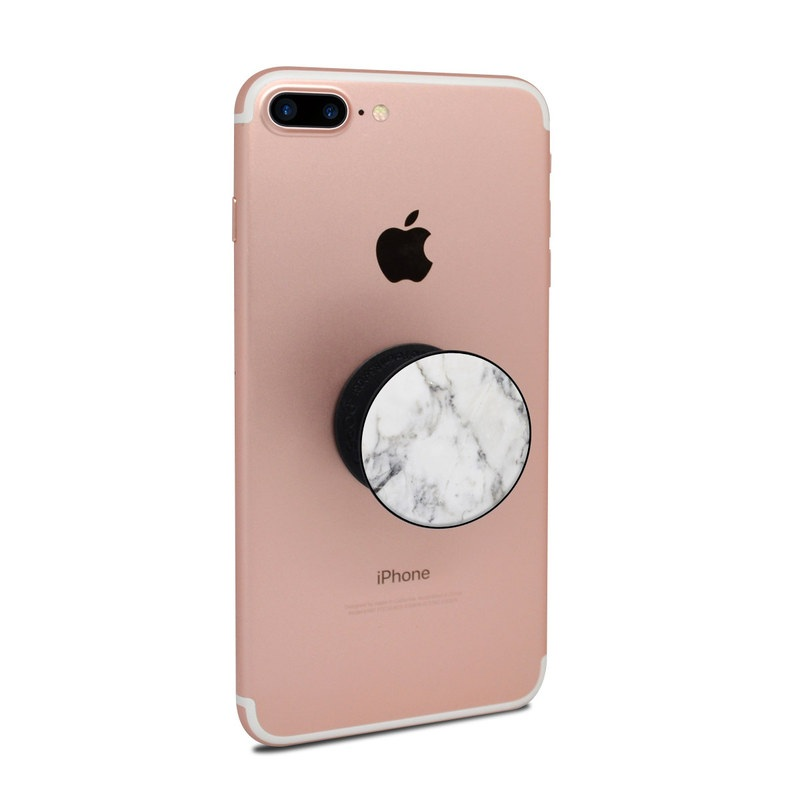 Popsockets Skin White Marble By Marble Collection