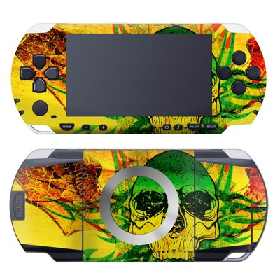 PSP Skin - Hot Tribal Skull