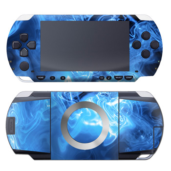 PSP Skin - Blue Quantum Waves