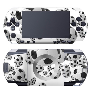 PSP Skin - Lots of Soccer Balls