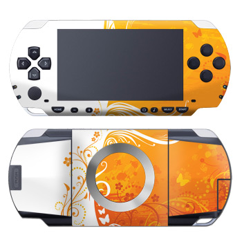 PSP Skin - Orange Crush
