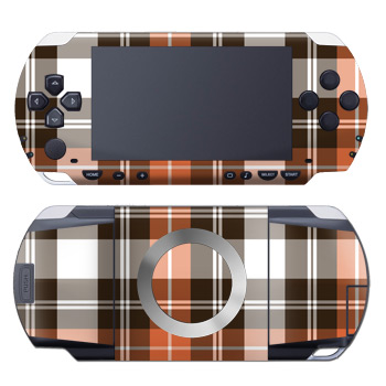 PSP Skin - Copper Plaid