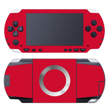 PSP Skin - Solid State Red