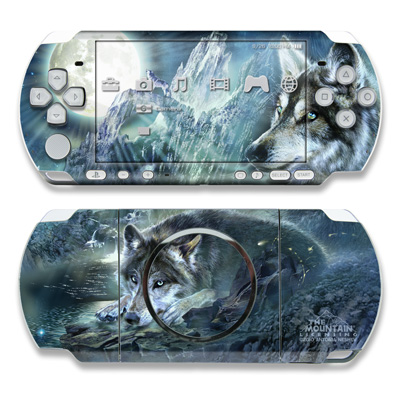 PSP 3000 Skin - Bark At The Moon