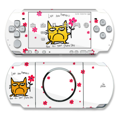 PSP 3000 Skin - Catwad Happy