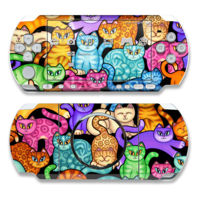 PSP 3000 Skin - Colorful Kittens