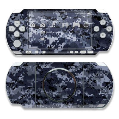 PSP 3000 Skin - Digital Navy Camo