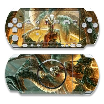 PSP 3000 Skin - Dragon Mage