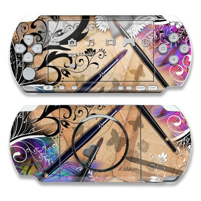 PSP 3000 Skin - Dream Flowers