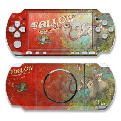 PSP 3000 Skin - Follow Your Bliss