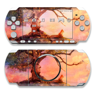 PSP 3000 Skin - Fox Sunset