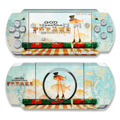 PSP 3000 Skin - God Bless The Freaks