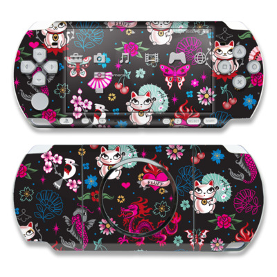 PSP 3000 Skin - Geisha Kitty
