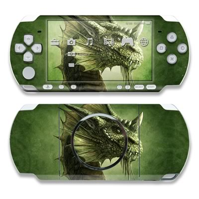 PSP 3000 Skin - Green Dragon
