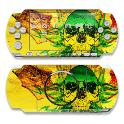 PSP 3000 Skin - Hot Tribal Skull