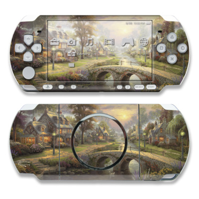 PSP 3000 Skin - Sunset On Lamplight Lane