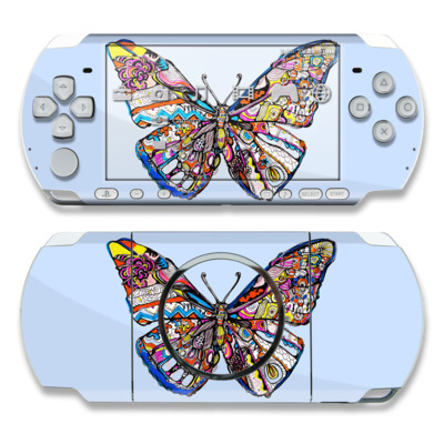 PSP 3000 Skin - Pieced Butterfly