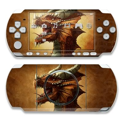 PSP 3000 Skin - Red Dragon