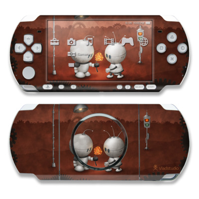 PSP 3000 Skin - Robots In Love