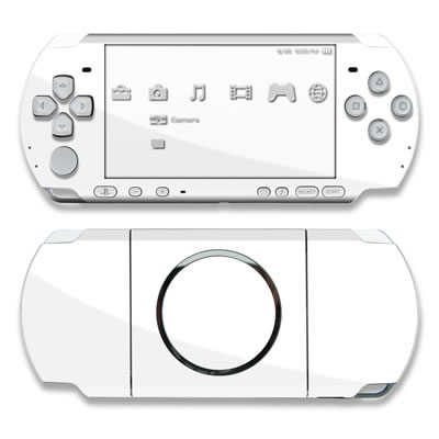 PSP 3000 Skin - Solid State White