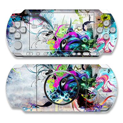 PSP 3000 Skin - Streaming Eye
