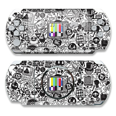 PSP 3000 Skin - TV Kills Everything
