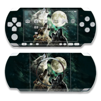 PSP 3000 Skin - Three Wolf Moon