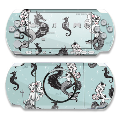 PSP 3000 Skin - Vintage Mermaid