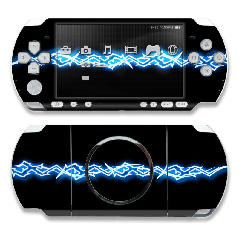 PSP 3000 Skin - Neon Blue Barbs | DecalGirl