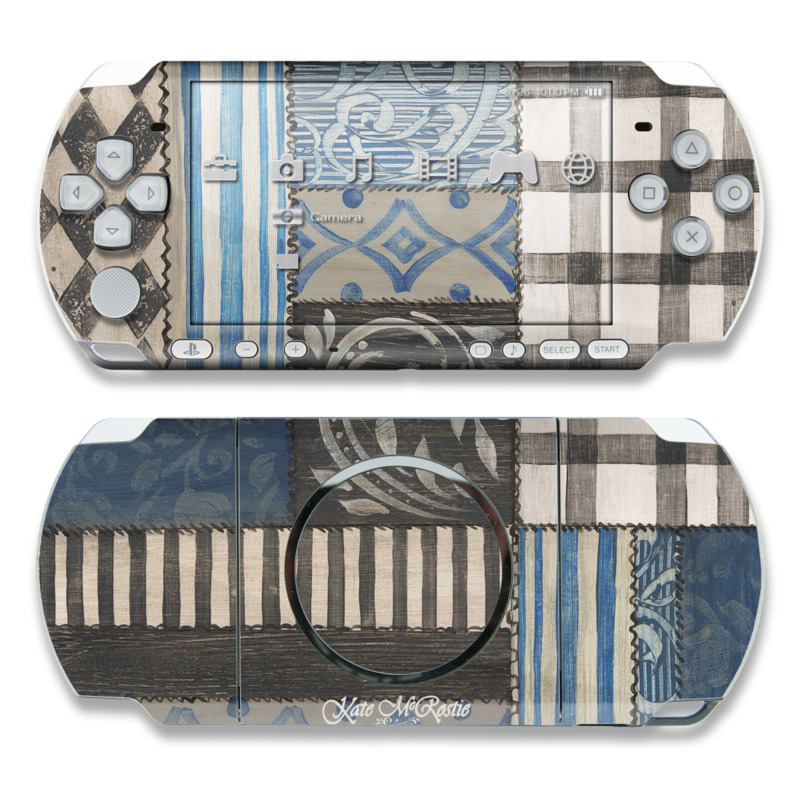 PSP 3000 Skin - Country Chic Blue by Kate McRostie | DecalGirl