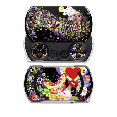 PSP Go Skin - Flower Cloud