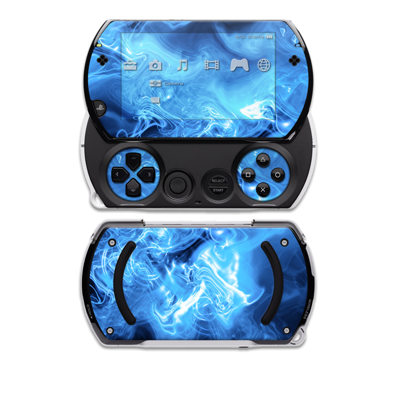 PSP Go Skin - Blue Quantum Waves