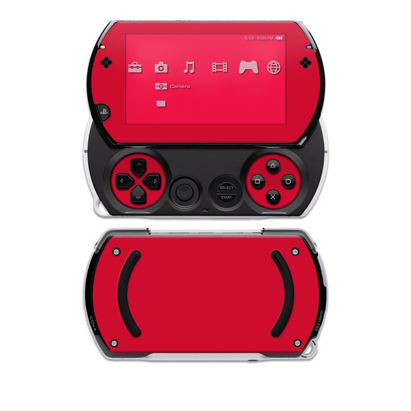 PSP Go Skin - Solid State Red