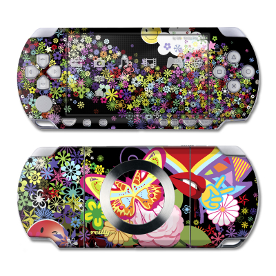 PSP Slim & Lite Skin - Flower Cloud