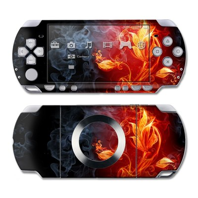 PSP Slim & Lite Skin - Flower Of Fire