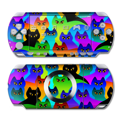 PSP Slim & Lite Skin - Rainbow Cats
