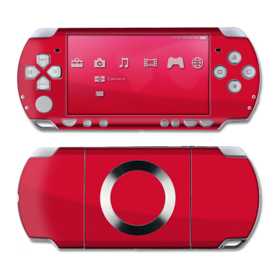 PSP Slim & Lite Skin - Solid State Red