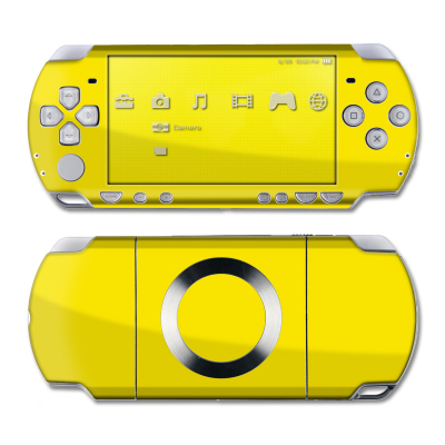 PSP Slim & Lite Skin - Solid State Yellow