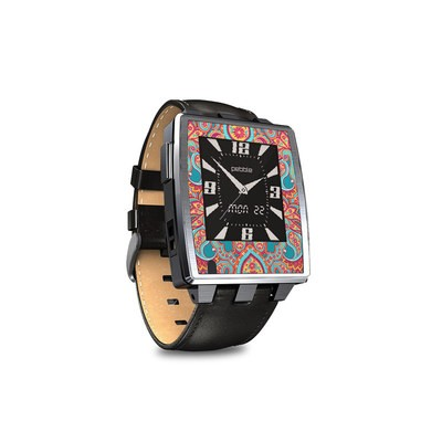 Pebble Steel Smartwatch Skin - Carnival Paisley