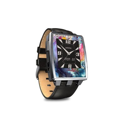 Pebble Steel Smartwatch Skin - Cosmic Flower