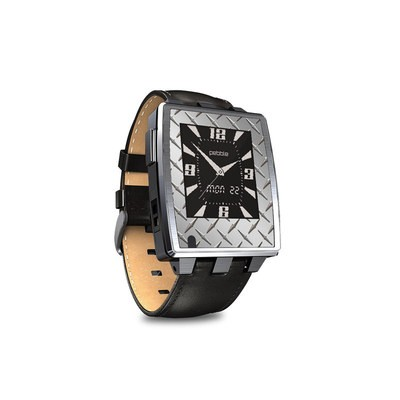 Pebble Steel Smartwatch Skin - Diamond Plate