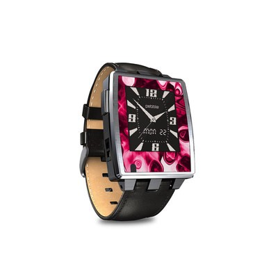 Pebble Steel Smartwatch Skin - Pink Splatter